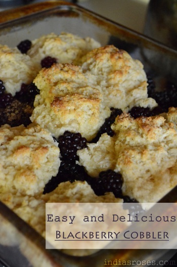 A Recipes for super easy and delicious Blackberry Cobbler: indiasroses.com