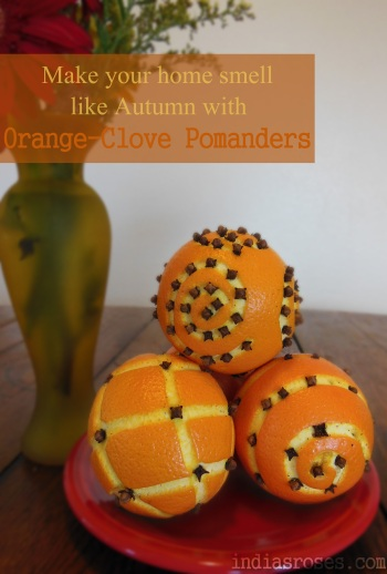 How To Make Beautiful Orange-Clove Pomanders That Will Have Your Whole House Smelling Like Autumn | indiasroses.com